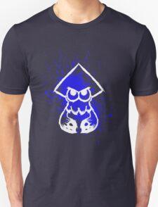 Splatoon White Squid on Blue Splatter Unisex T-Shirt