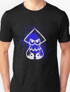 Splatoon White Squid on Blue Splatter T-Shirt