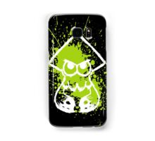 Splatoon White Squid on Green Splatter Samsung Galaxy Case/Skin