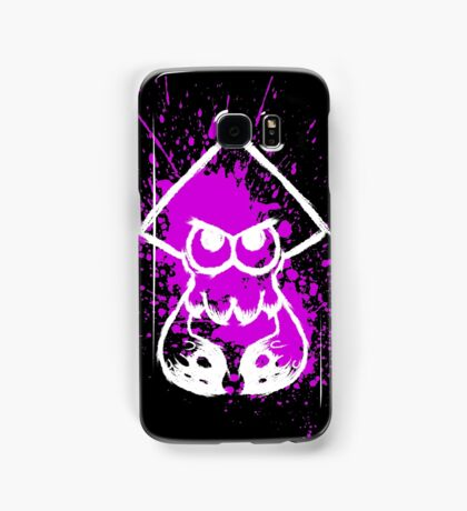 Splatoon White Squid on Purple Splatter Samsung Galaxy Case/Skin
