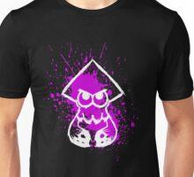 Splatoon White Squid on Purple Splatter Unisex T-Shirt