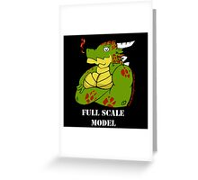 FULL SCALE MODEL Greeting Card