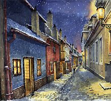 Prague Golden Line Winter by Yuriy Shevchuk