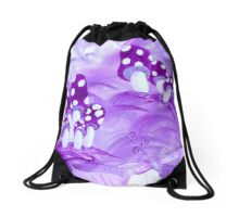 Purple Whimsy Drawstring Bag