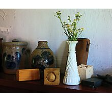 Vase With Wild Flowers Photographic Print