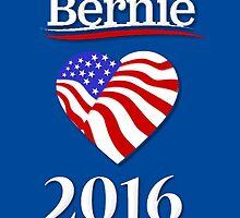 Bernie Sanders 2016 by Edmond  Hogge