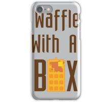 """""""Waffle With a Box"""" Waffle Box Productions Case iPhone Case/Skin"""
