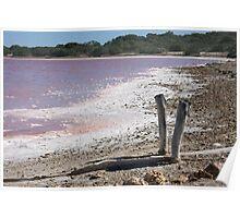 Salt Lake - The Coorong, South Australia Poster