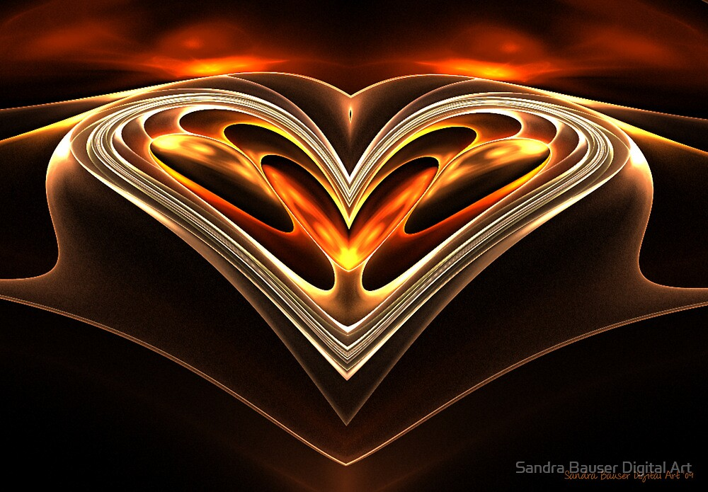 Burning Desire by Sandra Bauser Digital Art