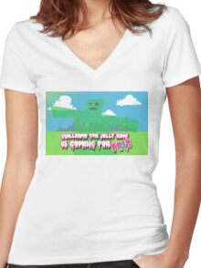 Guillermo the Jelly King! Women's Fitted V-Neck T-Shirt