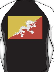 BHUTAN, Flag of Bhutan, Thunder Dragon, Bhutan Flag, National flag of Bhutan T-Shirt