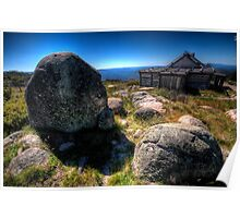 Up By Snowy River Up By Kosciusko's side, - Craigs Hut Mt Sterling - The HDR Experience Poster