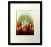 TREES under MAGIC MOUNTAINS I  Framed Print