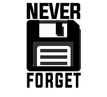 Never forget - stiffy floppy disc disk Photographic Print
