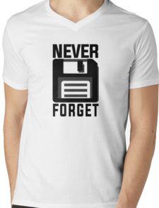 Never forget - stiffy floppy disc disk Mens V-Neck T-Shirt