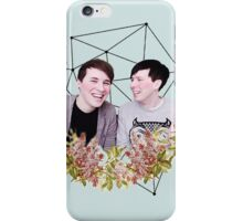 Dan and Phil Pastel Floral & Constellation Print iPhone Case/Skin