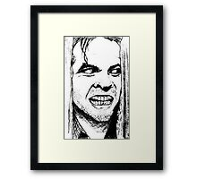 Heeeere's Johnny Framed Print