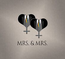 Mrs. Tuxedo Hearts Tie by LiveLoudGraphic