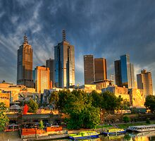 In the city, Melbourne  by Geraldine Lefoe