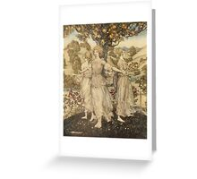 Comus Illustrated by Arthur Rackham 1921 0010 Frontpiece Greeting Card