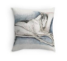 Sleeping Greyhound Throw Pillow