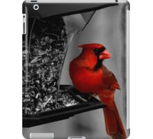 Cardinal at the feeder. iPad Case/Skin
