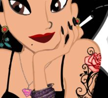 Jasmine Disney Princess Aladdin Tatooed Hipster Smoking Sticker