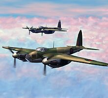 De Havilland Mosquitos by Walter Colvin
