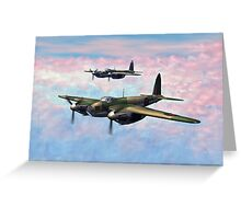 De Havilland Mosquitos Greeting Card