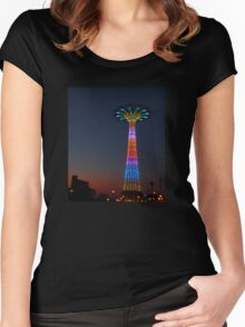 CONEY ISLAND'S PARACHUTE JUMP Women's Fitted Scoop T-Shirt