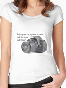 Photograph Quote Women's Fitted Scoop T-Shirt