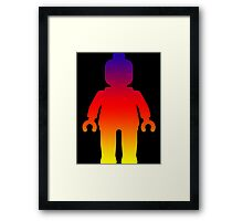 Minifig [Large Rainbow 2]  Framed Print