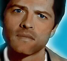 Castiel in Blue by MishaHead