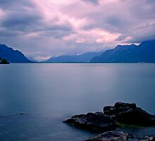 Sunset at Lake Geneva........Behind the Mountains by Imi Koetz