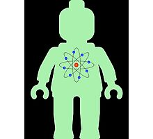 Minifig with Atom Symbol  Photographic Print