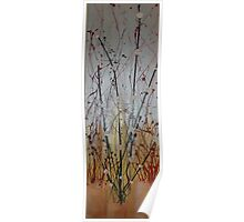 oriental blossom gold Poster