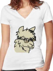Party Alpaca Women's Fitted V-Neck T-Shirt