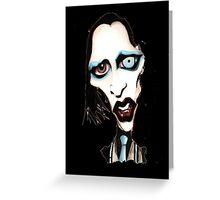 Marilyn Manson Caricature Greeting Card