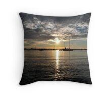 Silver Sunset Throw Pillow