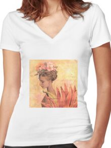 Faery II Women's Fitted V-Neck T-Shirt