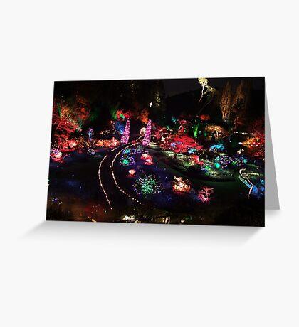 Night in the Sunken Garden(2) Greeting Card