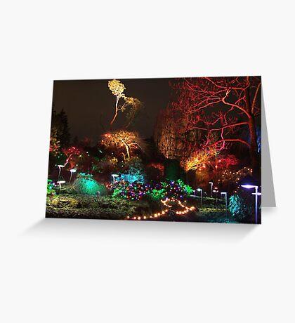 Night in the Sunken Garden (3) Greeting Card
