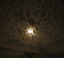 Moon Behind the Clouds by Seone Harris-Nair