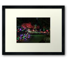Night in the Sunken Garden (4) Framed Print