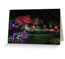 Night in the Sunken Garden (4) Greeting Card