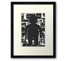 Retro Minifig Art  Framed Print
