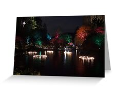 Night in the Sunken Garden (5) Greeting Card