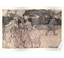 Rip Van Winkle by Washington Irving art Arthur Rackham 1919 0091 They All Stared At Him Poster