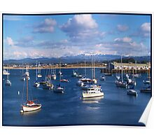 Monterey Bay Port in Winter Months Poster