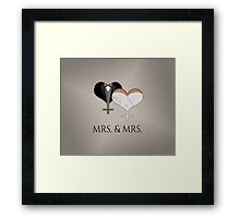 Mrs. Dress and Tux Hearts Bow Tie Framed Print